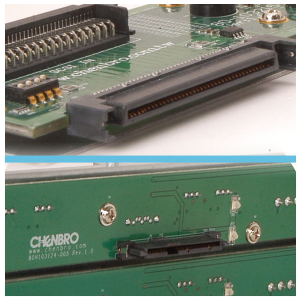 Optional SCSI module backplane & SATAII/SAS module backplane